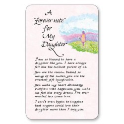 A Forever Note For My Daughter Keepsake Wallet Card (WC722) Blue Mountain Arts