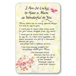 Lucky To Have A Mum as Wonderful Keepsake Wallet Card (WC725) Blue Mountain Arts