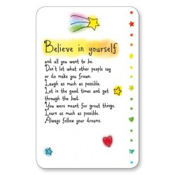 Believe In Yourself Keepsake Wallet Card (WC604) Blue Mountain Arts