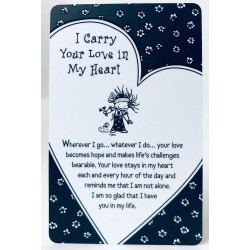 I Carry Your Love in My Heart Keepsake Wallet Card (WT342) Blue Mountain Arts