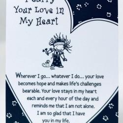 I Carry Your Love in My Heart Keepsake Wallet Card (WT342) Blue Mountain Arts