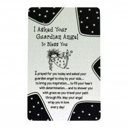 I Asked Your Guardian Angel to Bless You Keepsake Wallet Card (WT344) Blue Mountain Arts