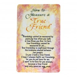 How To Measure A True Friend Keepsake Wallet Card (WW405) Blue Mountain Arts