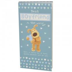 Boofle Best Boyfriend 80G Milk Chocolate Greeting Card Bar
