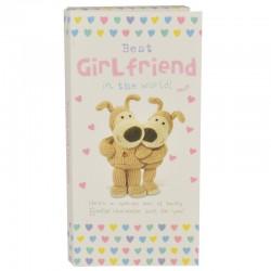 Boofle Best Girlfriend In The World 80G Milk Chocolate Greeting Card Bar