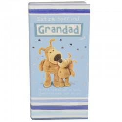 Boofle Bestest Grandad 80G Milk Chocolate Greeting Card Bar
