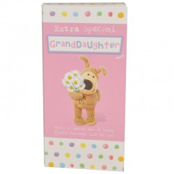 Boofle Extra Special Granddaughter 80G Milk Chocolate Greeting Card Bar