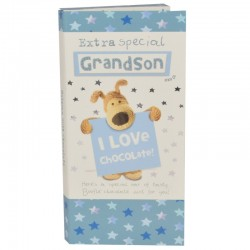Boofle Extra Special Grandson 80G Milk Chocolate Greeting Card Bar