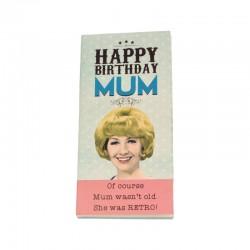 Happy Birthday Mum Chocolate Bar Card By Emotional Rescue