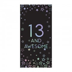 13th Birthday 80g Milk Chocolate Bar Card With Silver Stars