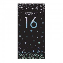 16th Birthday 80g Milk Chocolate Bar Card With Silver Stars