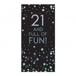 21st Birthday 80g Chocolate Bar Card With Silver Stars