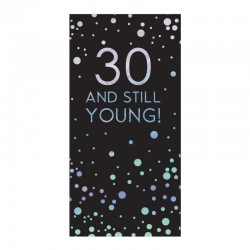 30th Birthday 80g Milk Chocolate Bar Card With Silver Stars