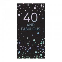40th Birthday 80g Milk Chocolate Bar Card With Silver Stars