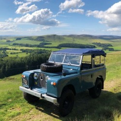 1961 Wheelbase Land Rover BBC Countryfile Range Blank Greeting Card