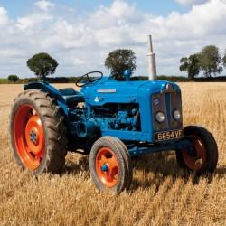 Fordson Super Major Vintage Tractor, Norfolk BBC Countryfile Range Blank Greeting Card
