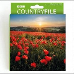 Red Poppies BBC Countryfile World Range Blank Notecards