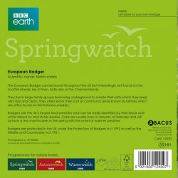 European Badger BBC Springwatch Range Blank Greeting Card