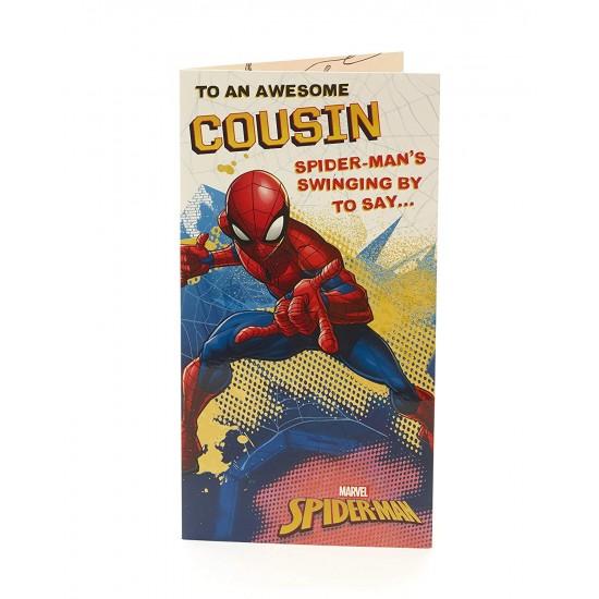Cousin Spider-man Birthday Card