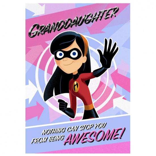 Granddaughter Incredibles Disney Pixar Birthday Card