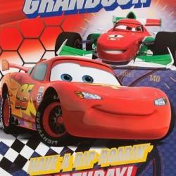 Grandson Disney Pixar Cars Birthday Card