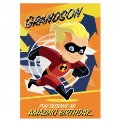 Grandson Incredibles Birthday Card
