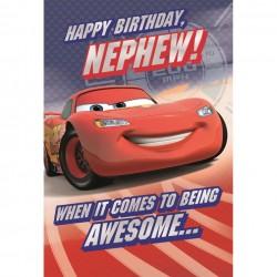 Nephew Disney Cars Birthday Card