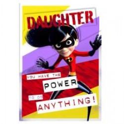 Daughter Incredibles Disney Pixar Birthday Card