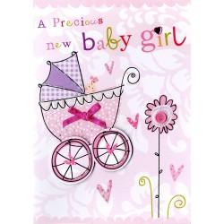 A Precious New Baby Girl Greeting Card