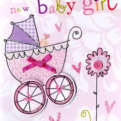 A Precious New Baby Girl Greeting Card