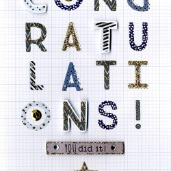 Congratulations You Did It Second Nature Hand Finished Card