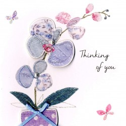 Sympathy Second Nature Orchid Flower Greeting Card