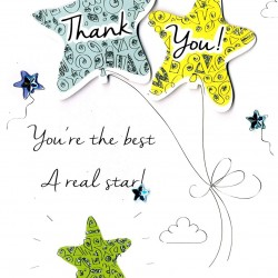 Thank You Second Nature  Hand Finished Greeting Card