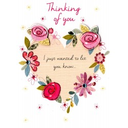 Thinking of You Second Nature Heart Design Card