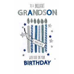 To A Brillant Grandson With Love On Your Birthday Greeting Card