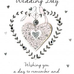 Wedding Day Second Nature Heart Design Card