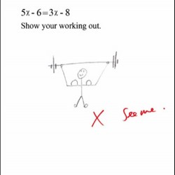 Genius Biceps Gym Working Out Algebra test Humorous Blank Funny Greeting Card