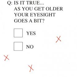Genius IS IT TRUE OLDER EYESIGHT test Humorous Blank Funny Greeting Card