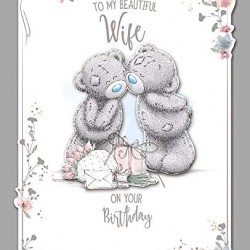 Me to You Tatty Teddy Beautiful Wife Birthday Luxury Boxed Card