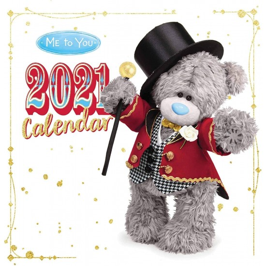 Me To You Tatty Teddy Bear Photo Finish Home Office Large Wall Calendar 2021