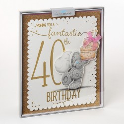 Me to You Tatty Teddy 40th Birthday Luxury Boxed Card