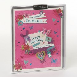 To A Wonderful Daughter Birthday Luxury Boxed Card By Wishing Well Studios