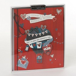 Wonderful Husband Anniversary Wishing Well Studios Handmade Boxed Keepsake Card