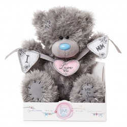 "Me to You Signature Collection 9"" bear holding  Love You Mum bunting"