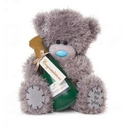 "Me to You 7"" Tatty Teddy Bear Congratulations Champagne Bottle Bear"