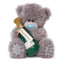 """Me to You 7"""" Tatty Teddy Bear Congratulations Champagne Bottle Bear"""