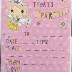 Presents Treats & Party Birthday Party Invites