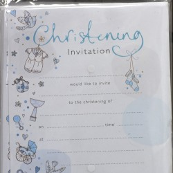 Blue Christening Invites