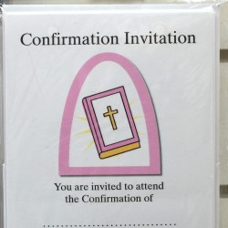 Pink Confirmation Invitations