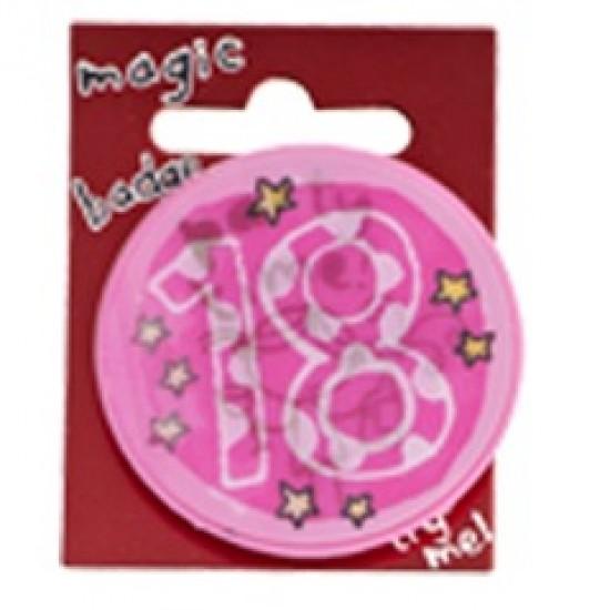 18th Birthday Pink Magic Holographic Badge